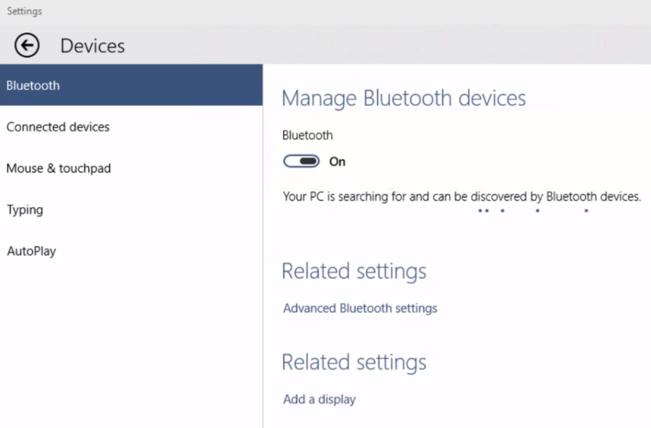 How To Turn On Bluetooth Windows 8